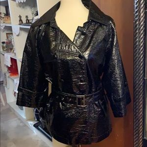Cato Faux Patent Leather Look Lightweight Jacket